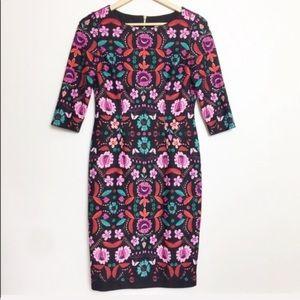 Eliza J | Pink Floral Patterned Sheath Dress 4P